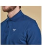 Men's Barbour Sports Polo 215G - Deep Blue