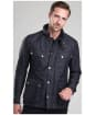 Men's Barbour International Ariel Quilted Jacket - Black