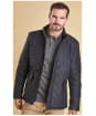 Men's Barbour Powell Quilted Jacket - Navy