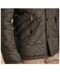 Men's Barbour Powell Quilted Jacket - Olive