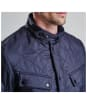 Men's Barbour International Ariel Polarquilt Jacket - Navy