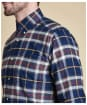 Barbour Castlebay Check Tailored Shirt - Navy Check