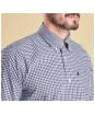Men's Barbour Country Gingham Tailored Shirt - Navy Check