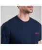 Men's Barbour International Small Logo T-shirt - Navy