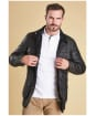 Men's Barbour Corbridge Waxed Jacket - Black