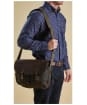 Barbour Wax and Leather Tarras Bag - Olive