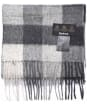 Barbour Large Tattersall Lambswool Scarf - Charcoal / Grey