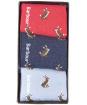 Women's Barbour Rabbit Motif Sock Gift Box - Blue / Red