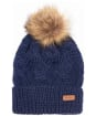 Women's Barbour Ashridge Beanie Hat - Navy
