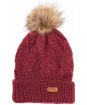 Women's Barbour Ashridge Beanie Hat - Carmine
