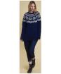 Women's Barbour Heritage Harriet Chunky Crew Neck Sweater - Deep Blue