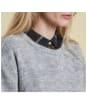 Women's Barbour Heritage Edith Crew Neck Sweater - Light Grey Marl