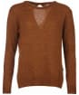 Women's Barbour Heritage Edith Crew Neck Sweater - Cinnamon