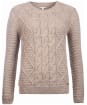 Women's Barbour Court Crew Sweater - Oatmeal