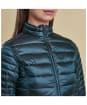 Women's Barbour Clyde Short Baffle Quilted Jacket - Emerald