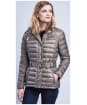 Women's Barbour International Cadwell Quilted Jacket - Taupe