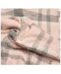 Women's Barbour Tartan Boucle Scarf - Pink / Grey Tartan