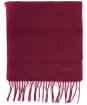 Women's Barbour Lambswool Woven Scarf - Burgundy