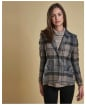 Women's Barbour Linton Tailored Jacket - Emerald Winter Tartan