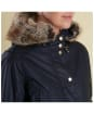 Women's Barbour Kelsall Waxed Jacket - Navy