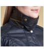 Women's Barbour Castlebay Waxed Jacket - Navy