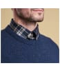 Men's Barbour Tisbury Crew Neck Sweater - Deep Blue