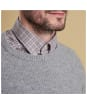 Men's Barbour Keswick Rib Crew Neck Sweater - Light Grey Marl
