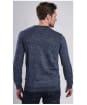 Men's Barbour International Burnish Crew Neck Sweater - Indigo