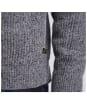 Men's Barbour International Hasp Crew Neck Sweater - Grey Marl
