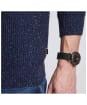 Men's Barbour International Hasp Crew Neck Sweater - Navy