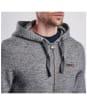 Men's Barbour International Cylinder Hoodie - Slate Grey