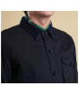 Men's Barbour Heritage Clough Overshirt - City Navy
