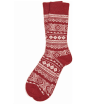 Men's Barbour Onso Fairisle Socks - Dark Red