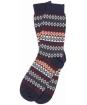 Men's Barbour Duxbury Fairisle Socks - Navy