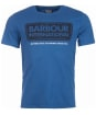 Men's Barbour International Logo Tee - Mid Blue
