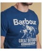 Men's Barbour Companion Tee - Mid Blue