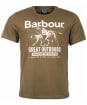 Men's Barbour Companion Tee - Mid Olive