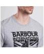 Men's Barbour International Cruise Tee - Grey Marl