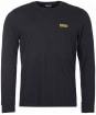 Men's Barbour International Long Sleeve Logo Tee - Black