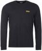 Men's Barbour International Long Sleeve Logo Tee - Black