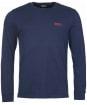 Men's Barbour International Long Sleeve Logo Tee - Navy