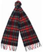Barbour New Check Tartan Scarf - Black Stewart