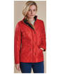 Women's Barbour Cavalry Polarquilt Jacket - Red
