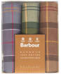 Men's Barbour Assorted Tartan Handkerchiefs - Boxed Set of 3 - Assorted Tartan