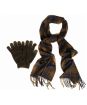 Men's Barbour Scarf and Glove Gift Set - Classic / Olive