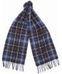 Barbour Tartan Lambswool Scarf - Navy / Red