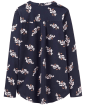 Women's Joules Beatrice Jersey Woven Mix Top - French Navy Cornflower