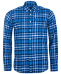 Men's Barbour Finley Tailored Shirt - Bright Blue Check