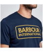 Men's Barbour International Essential Large Logo Tee - Navy