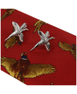 Soprano Pheasant Tie and Cufflinks Gift Set - Red